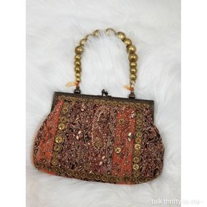 Handbags - Vintage-Look Beaded Tapestry Frame Bag